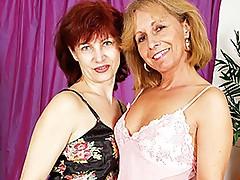 Mature Lesbians Scissor-Fuck Each Other!