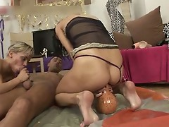 Busty slut gets her ass fucked and pussy