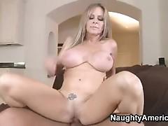 Sexy Blonde MomMa DyAnna Lauren slams her Moist vaGina on a throbbing penis