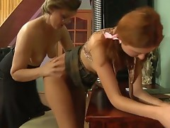 Leonora and Stephanie pussyloving Mature on movie