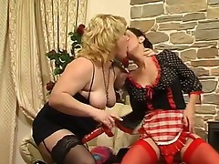 Ophelia and Mima lesbian mature video