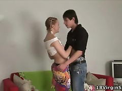 Juvenile Blonde acquires her love tunnel stretched