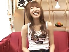 Stluuty and hairy Japanese schoolgirl teasing