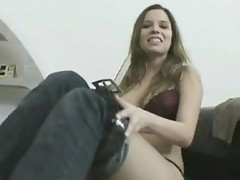Smutty enchanting Peaches acquires Nasty hot on the couch naked for a Solo action