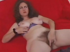 Hawt Irish beauty pets her furry cum-hole in solo Masturbation