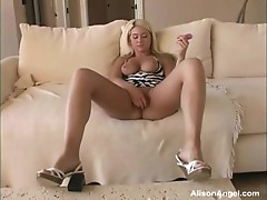 Alison Angel shows off her yummy fur pie