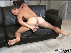 Devin Adams wanking his fine college dick