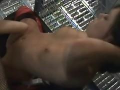 Horny lesbo sluts cage threesome scene