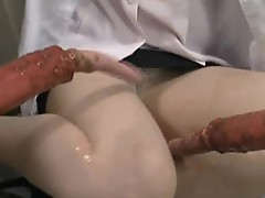 Asami Ogawa hot jizzed by some slimy