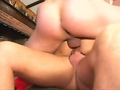 Fuck loving whore Vicky vette gets an awesome bang indoor with three sexy fellas