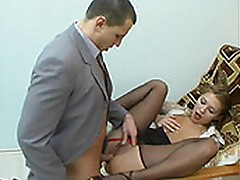 Antoinette and Maurice hot anal pantyhose video