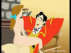 Belle rides on Gaston's big cock