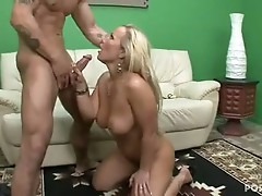 Blonde bombshell Austin Taylor receives her soaked Moist love tunnel stuffed with stiff cock