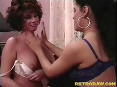 Vintage lesbo sex with busty milfs