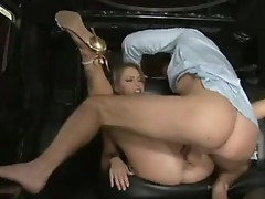 Fucking floozy Jenna Presley gets her Muff spooned out by a big dick behind