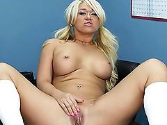 Blonde bimbo Cayden Moore fucked by Billy Glide