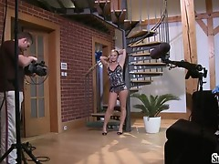 Sylvia Saint taking her clothes off in front of livewebcam