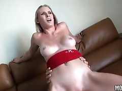 Sunset Diamond is Sizzling Hot on top of her Man bouncing her Beaver on a rod
