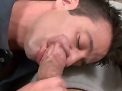 Married guy having gay blowjob
