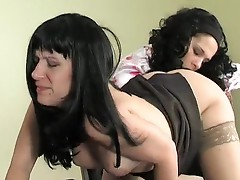 Silvia and JoAnna pussyloving Mom on movie
