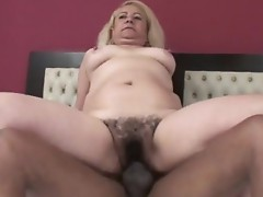 Sexy Blonde Victoria Santos gets her sexy curly twat drilled