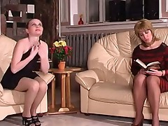 Ethel and Nellie pussyloving mature in action