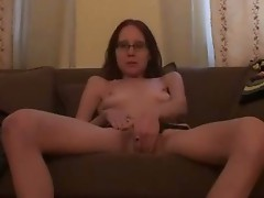 Amateur gf in glasses gets slutty at home
