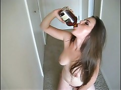 Nude and drunk