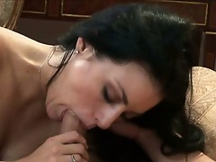 Busty Becky passioNately engulfing a Mwazooive erect cock like a Lollipop