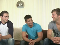 Nicco Sky gets to do his first Randy Blue Three-way with the sexiest pair of guys, Malachi Marx and Christian Sharp.