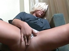 Blond whore loves to suck dick