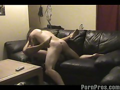 Cheating wife unaware of hidden camera as she fucks another cock
