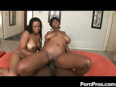Janae and stacy banging fat black cock and slapping their huge asses