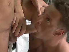 Amazing gay fuck in the asylum