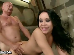 Nasty Nilla sucks and fucks a grandpa