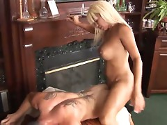 Horny shemale pornstar drilling hot muscled hunk in ass