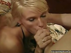 Anal pumping action for this slutty blonde babe