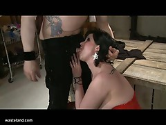 Jada misbehaves and gets punished by master eric