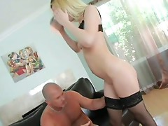 Blonde babe annette schwarz gets mouth and pussy pounded