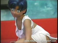 Monika is a flexible cartoon puppet