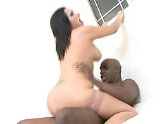 Plump hot milf fucks big hard black cock