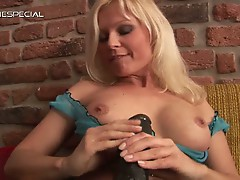 Kathy sweet and her big black dildo