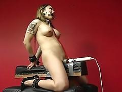 Bondage babe tortured by her master !