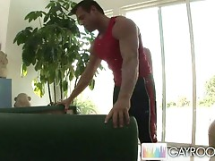 Hot masseur fondles sweet tight ass for some relaxation