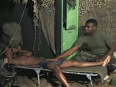 Black army guys fucking hard
