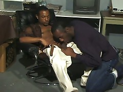Two gay black studs fucking hardcore ass