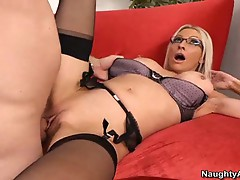 Big tits blonde teacher emma starr fucking hard with hot student
