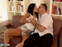 Horny dad bangs young Shalina Divine
