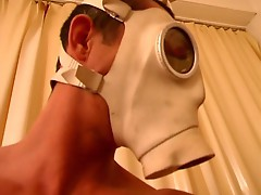 Dude in a mask hooks up electroshock to her pussy