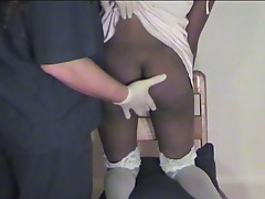 Her ebony ass gets spanked and slapped to her delight